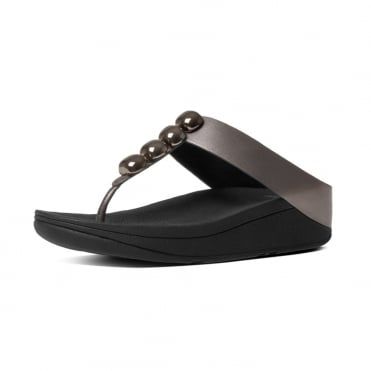 Rola™ Leather Toe Post Sandals in Pewter