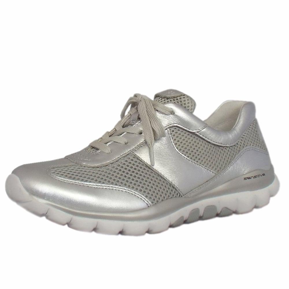 Gabor Rollingsoft Helen Modern Sneakers in Silver