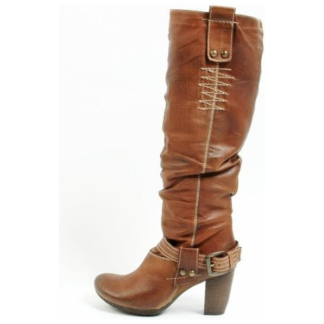 Nieuw Manas Design | Roma ladies Brown Leather High Heel Boots | Mozimo DN-43
