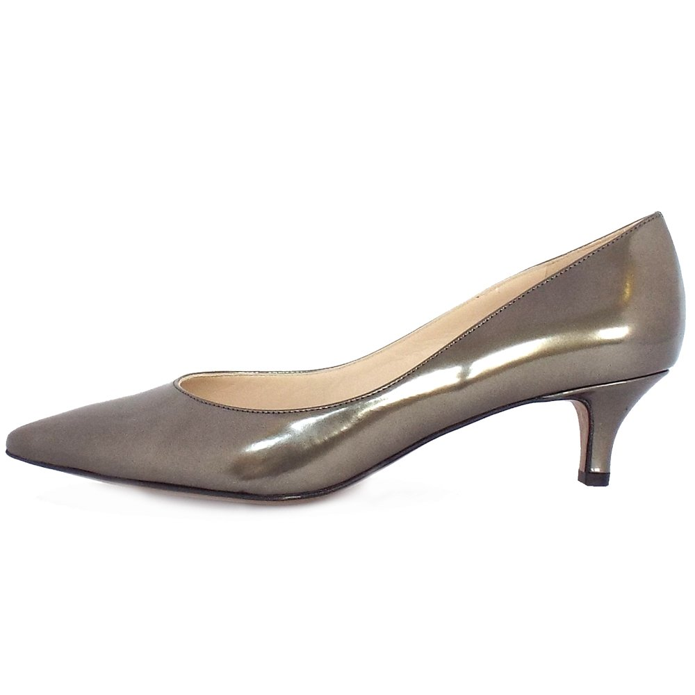 Metallic Kitten Heel Shoes