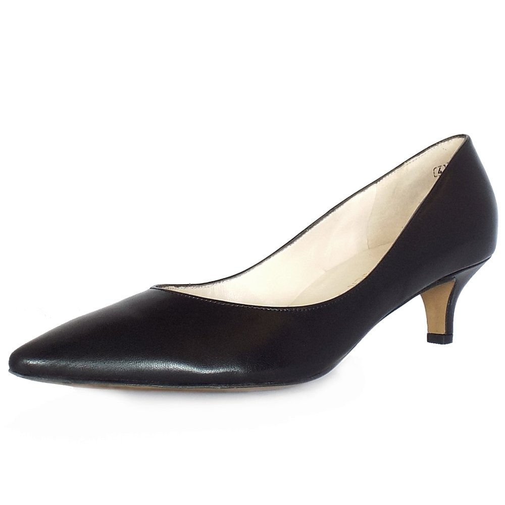 Black Court Shoes Kitten Heel - Is Heel