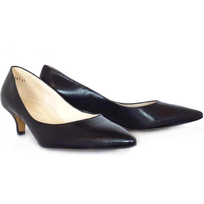Peter Kaiser Rona | Classic Pointed Toe Court Shoes in Black | Mozimo