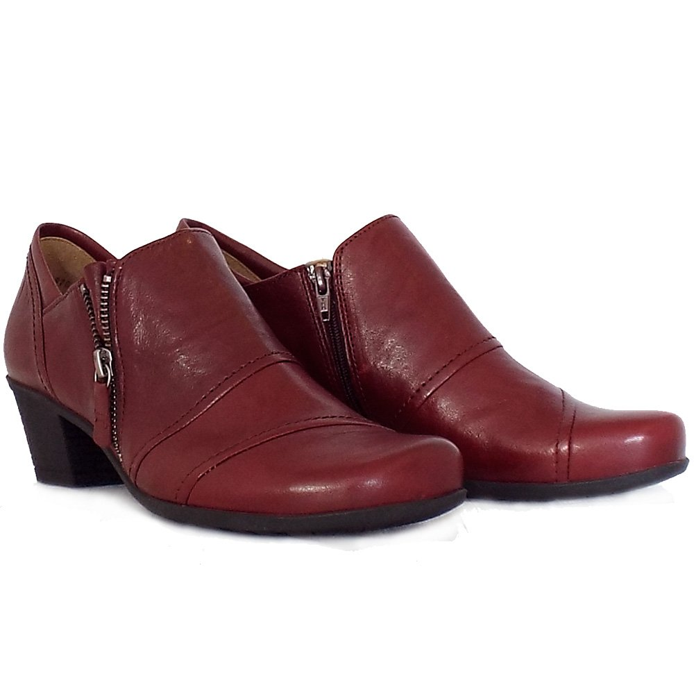Gabor Roost | Low Heel Trouser Shoes in Red