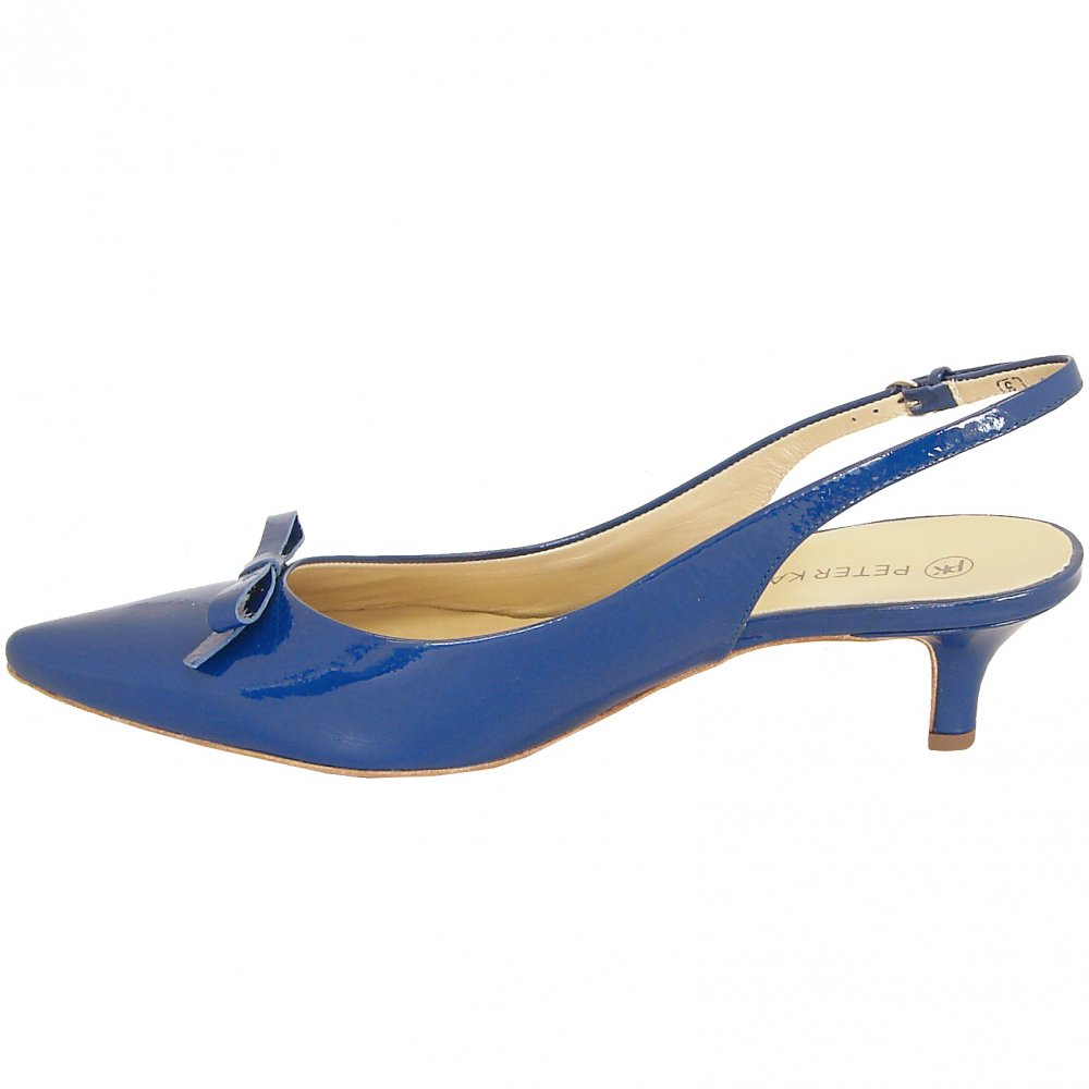 Royal Blue Shoes With Bow