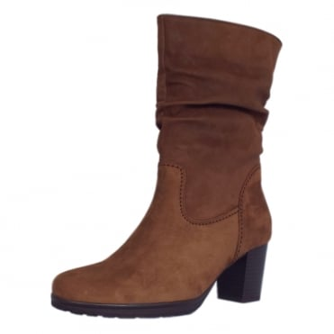 Rotterdam Fashion Slouch Mid Boot in Nut