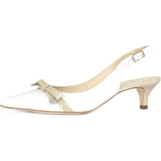 Peter Kaiser Roxy | Women's Dressy Kitten Heel Shoes | White Patent