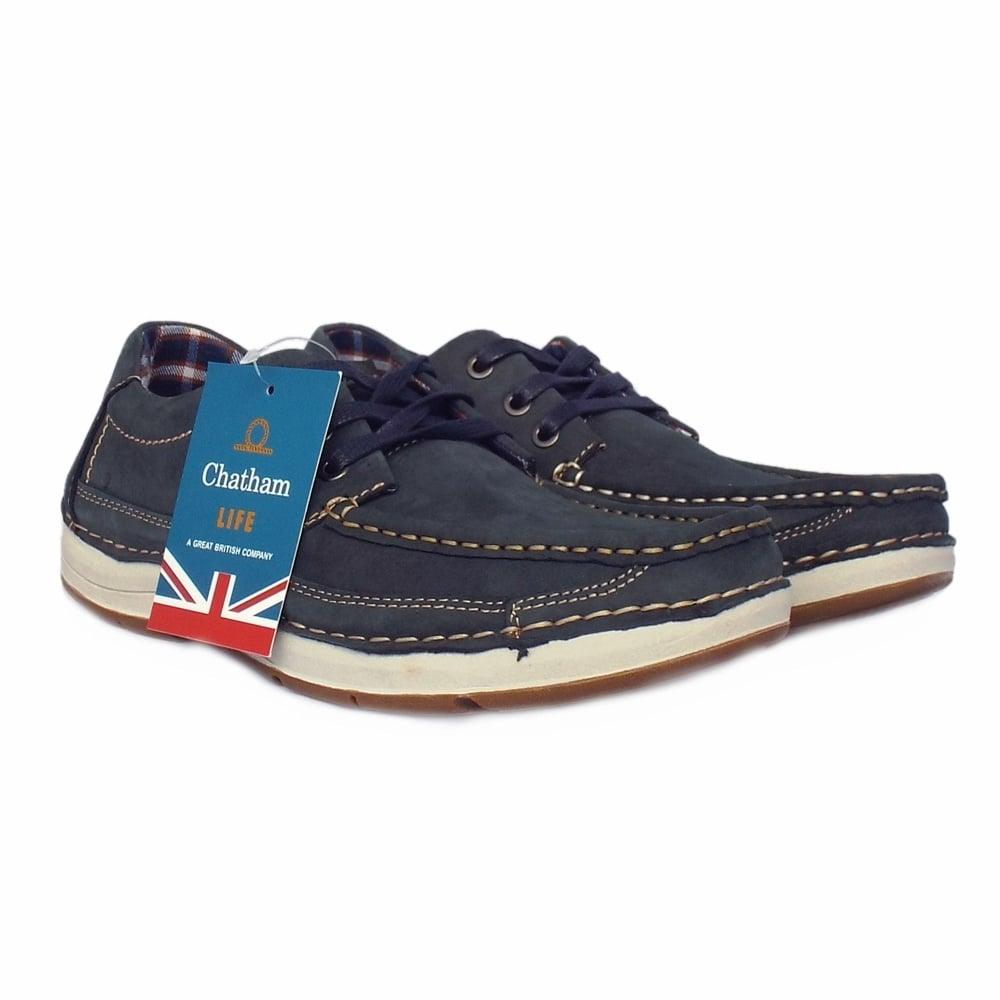 chatham marine rubble navy s lace up boat shoe