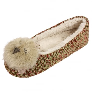 Chick Ballerina Luxury Slippers in Tweed
