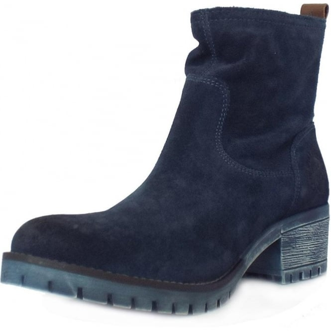 S.Oliver Alexa Women's Casual Short Boots in Navy Suede