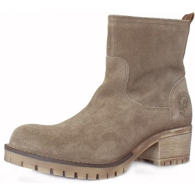 S.Oliver Alexa Women's Casual Short Boots in Pepper Taupe Suede