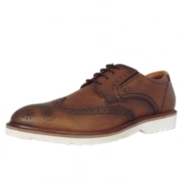 Bonn Men's 13608 Smart Lace-up Brogue Shoes in Tan