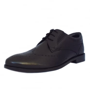 S.Oliver Cologne Men's 13207 Brogue Shoes in Black Leather