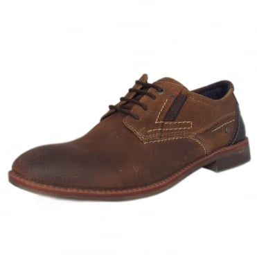 Frankfurt Men's 13604 Smart Lace-up Shoes in Tan