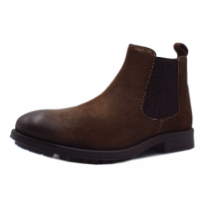 cheaper 62736 13f9c Helsinki Men's 15401 Casual Chelsea Boot Style In Dark Cognac