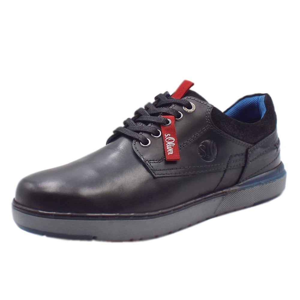 pretty cheap for whole family professional sale Oberon Men's 13623 Casual Lace Up Shoes In Black