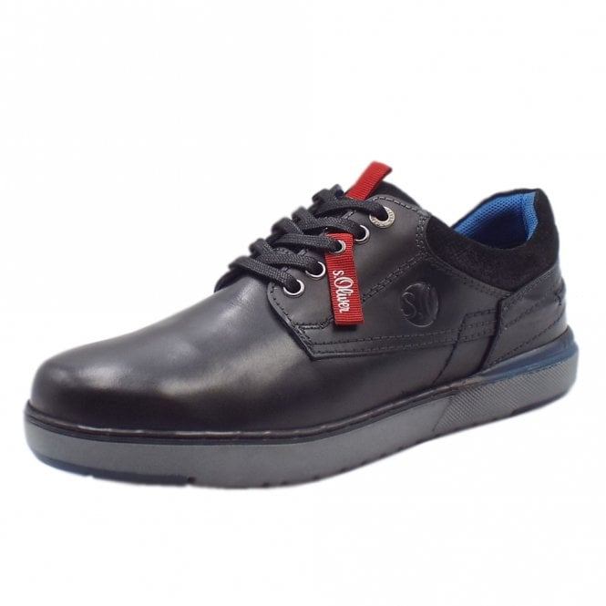 S.Oliver Oberon Men's 13623 Casual Lace Up Shoes In Black