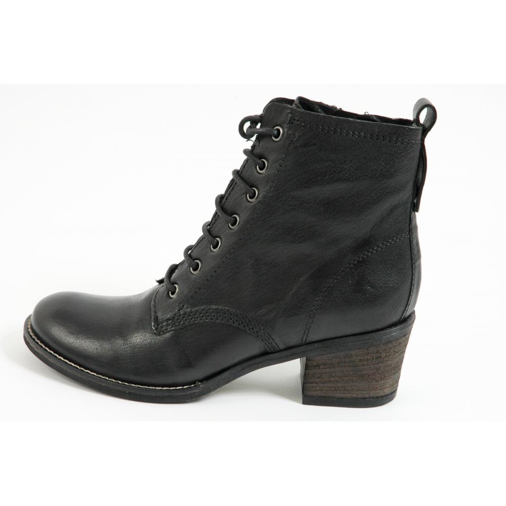 ... › Womens Boots › Sabrina A26757 lace-up black leather ankle boot