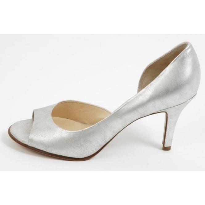 c58643eebbb7 Peter Kaiser Saffa silver evening shoes