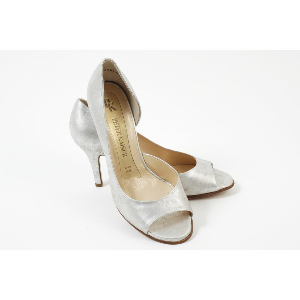 Peter Kaiser Saffa Silver Evening Shoes New Season In Stock
