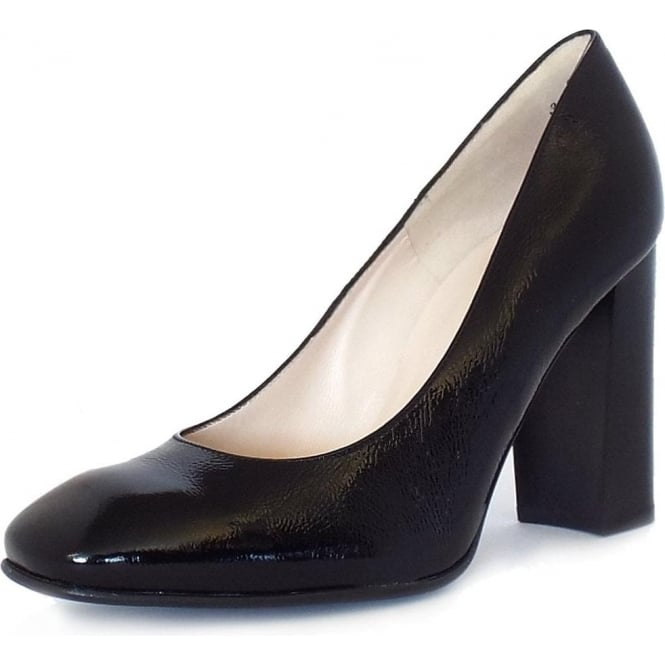 228156901c Peter Kaiser Sandy | High Block Heel Court Shoes in Black | Mozimo