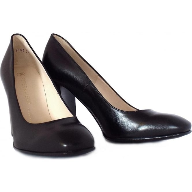 e873315c04834 Peter Kaiser Sandy Ladies Block Heel Formal Shoes in Black
