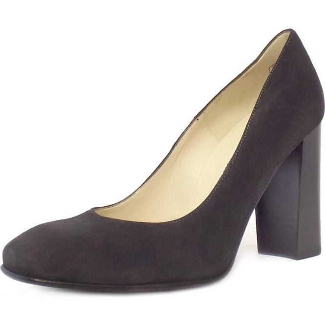 c0c5015f185ea Sandy Ladies Block Heel Formal Shoes in Grey Suede