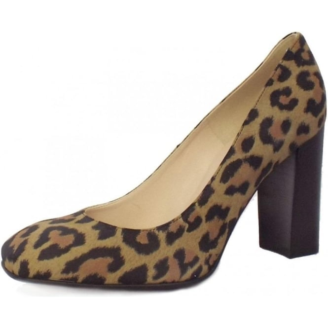 3d861068321 Sandy Ladies Block Heel Shoe in Leopard Print