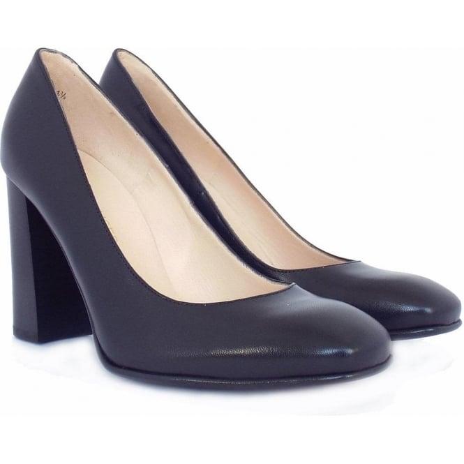 Peter Kaiser Sandy | Women's Block Heel Court Shoes in Navy Leather