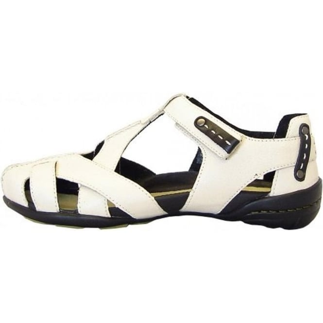 ab44802a0e Camel Active Saturn-S | Modern sporty T-bar sandals in white | Mozimo
