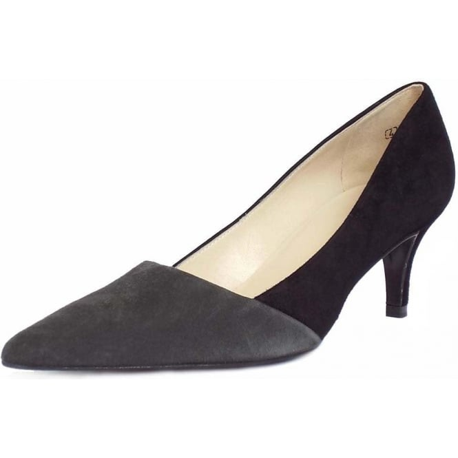 84c80bebd6347 Peter Kaiser Semitara | Women's Black and Grey Pointed Toe Court Shoes