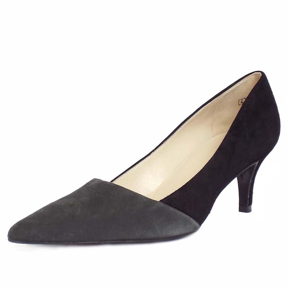 kaiser semitara s black and grey pointed toe