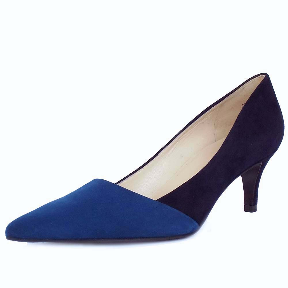 kaiser semitara s blue and navy pointed toe