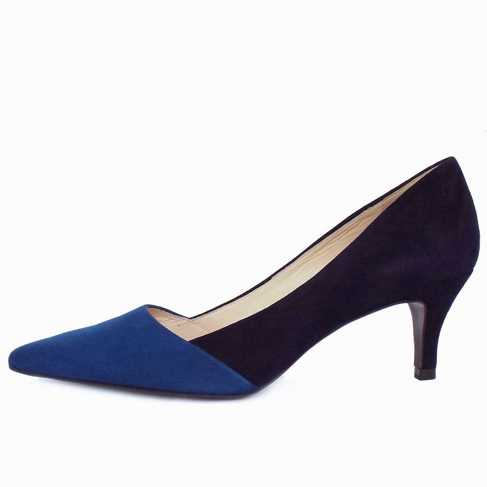 Blue Mid Heel Shoes