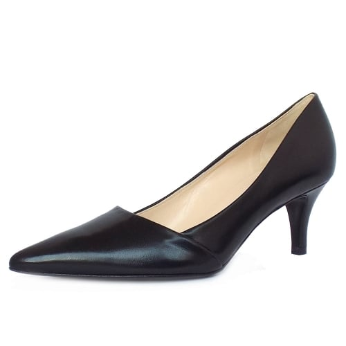 ecea0ec49de Semitara Women  039 s Kitten Heel Pointy Toe Court Shoes ...