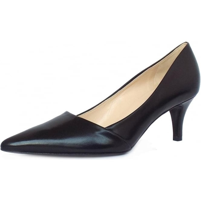 Peter Kaiser Semitara Women's Kitten Heel Pointy Toe Court Shoes in Black
