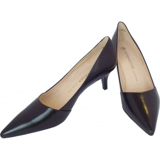 Peter Kaiser Semitara | Women's Mid Heel Pointy Shoe in Black Leather