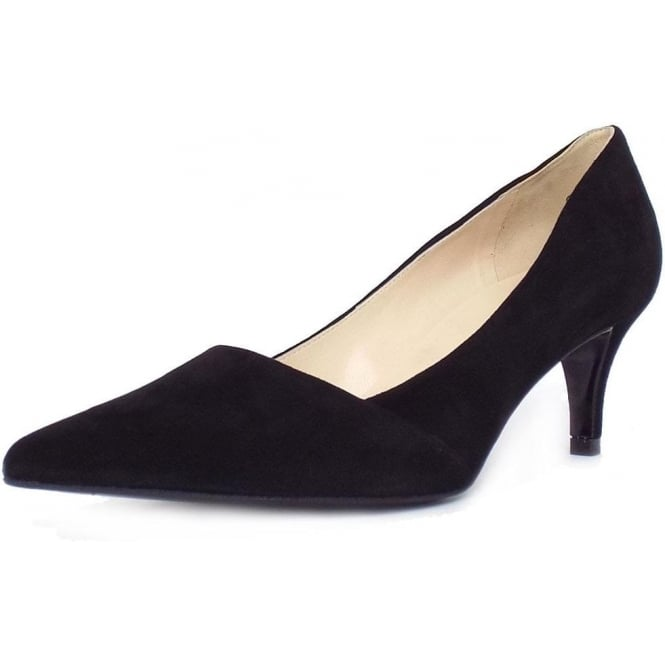 653e688100496 Peter Kaiser Semitara | Women's Mid Heel Pointy Shoes in Black Suede