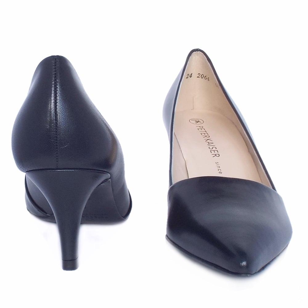 Kitten Heel Navy Shoes