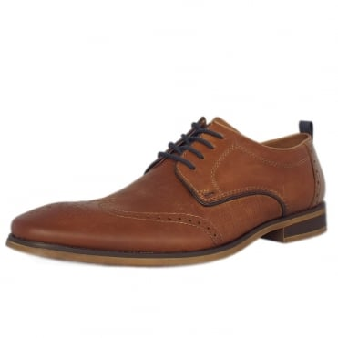 Sergio Men's Casual Lace Up Shoes in Toffee Tan