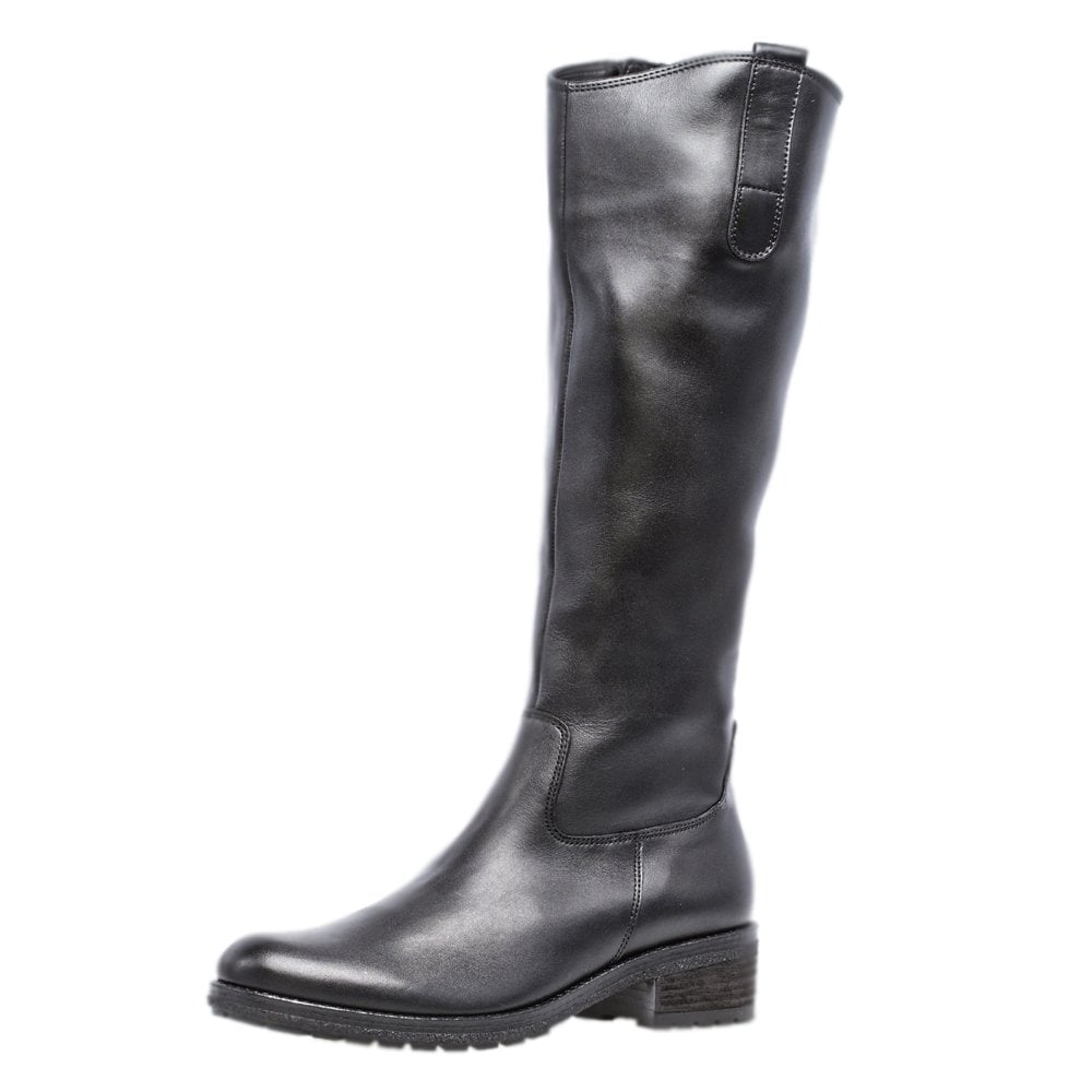 best sell good service wholesale price Gabor Boots | Shields Knee High Black Leather Ladies Boots | Mozimo