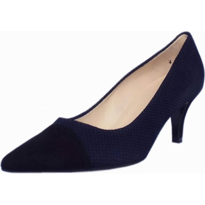 Peter Kaiser Siren Kitten Heel Pointy Toe Court Shoes in Notte Moon