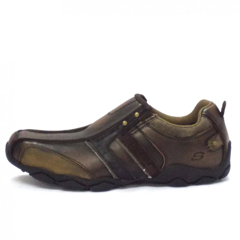 Skechers Heisman Casual Brown Leathers Mens Shoe