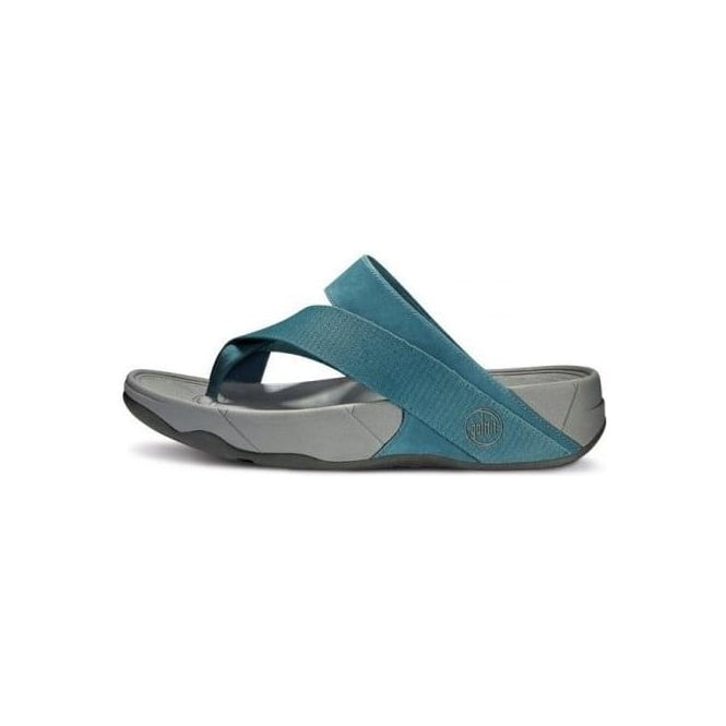69439af87dd6 Sling Sport Mens Cross Strap Sandals in Lake Blue