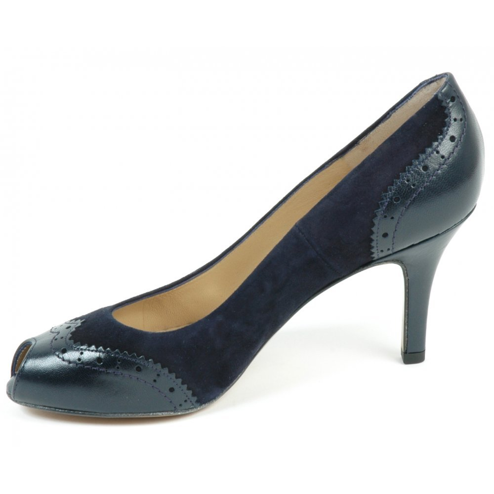 Peter Kaiser Smyrna | Medium heel, peep toe, navy suede