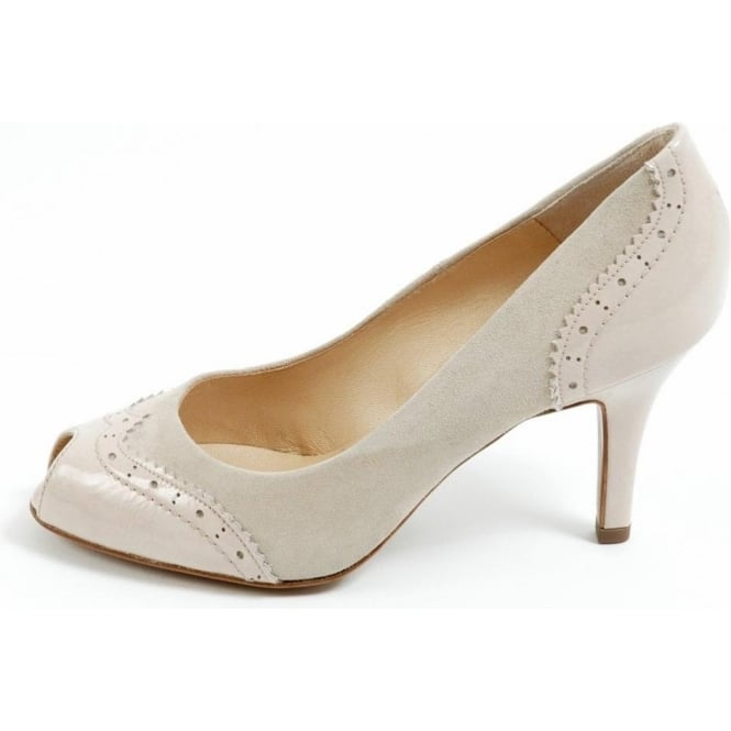 Peter Kaiser Smyrna | Medium heel, peep toe, black suede