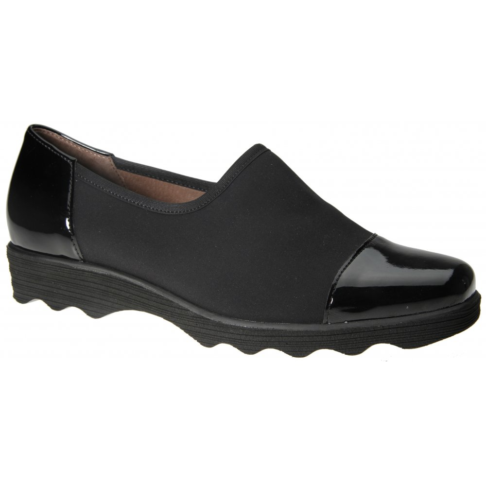 Gabor Shoes Solange Ladies Trouser Shoe In Black Stretch