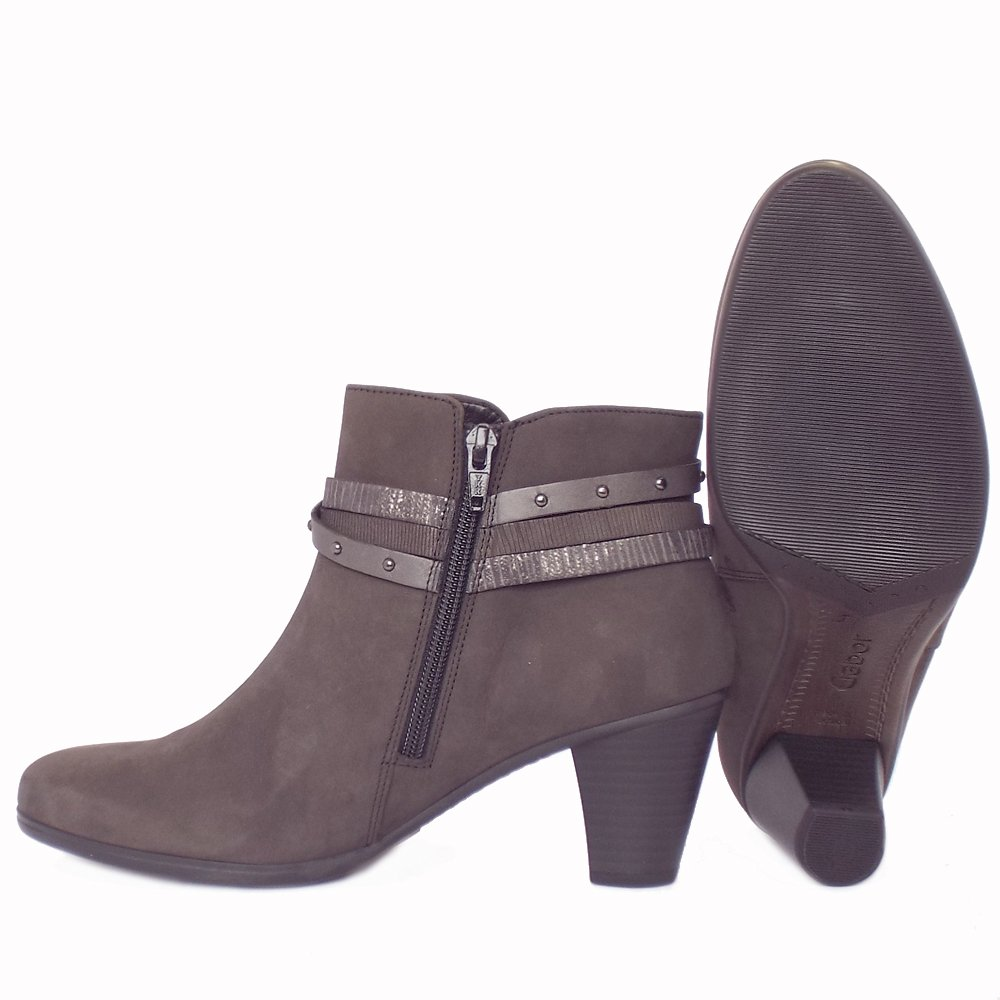 Awesome   Thame Women39s Fashion Mid Heel Winter Ankle Boots In Grey