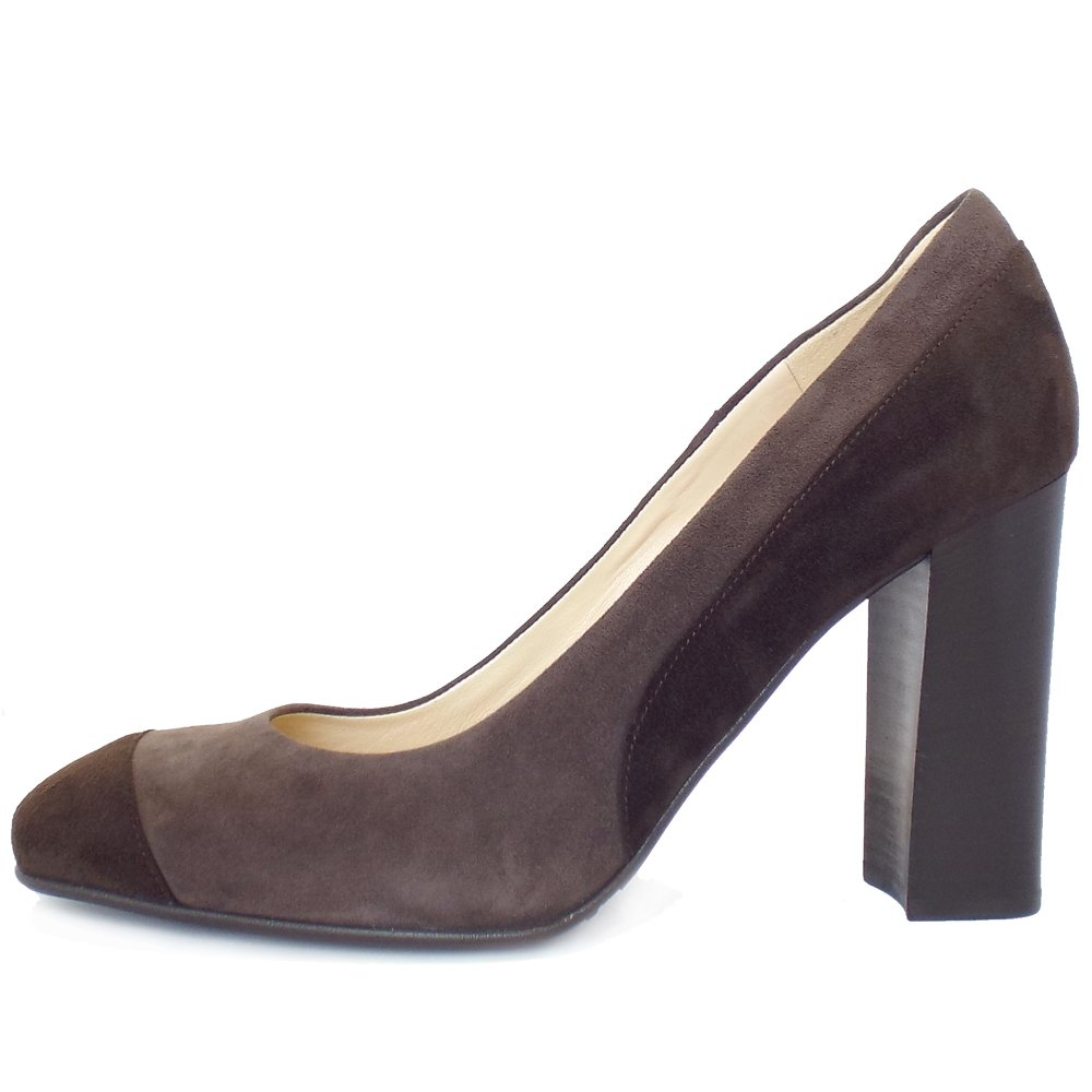 Taupe Leather Court Shoes