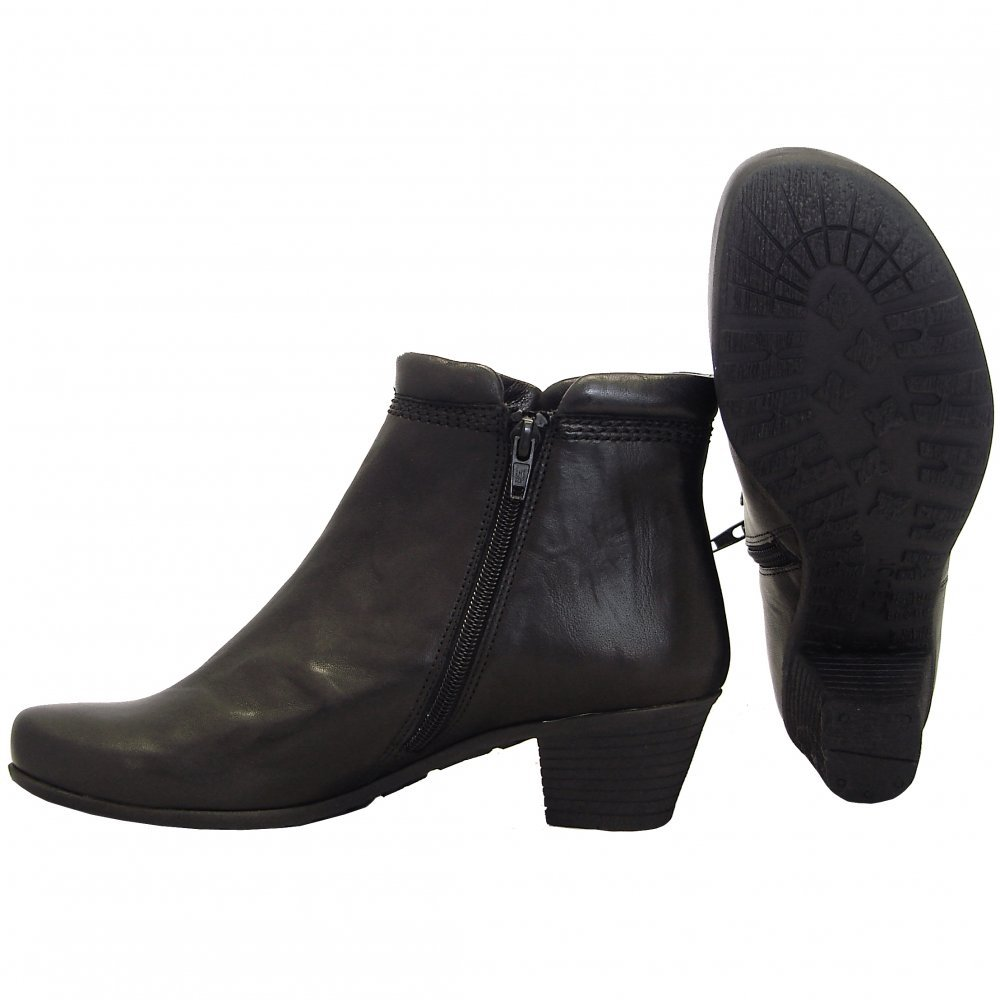 Simple Flat Black Leather Boots For Women Women Black Leather Boots Stefania