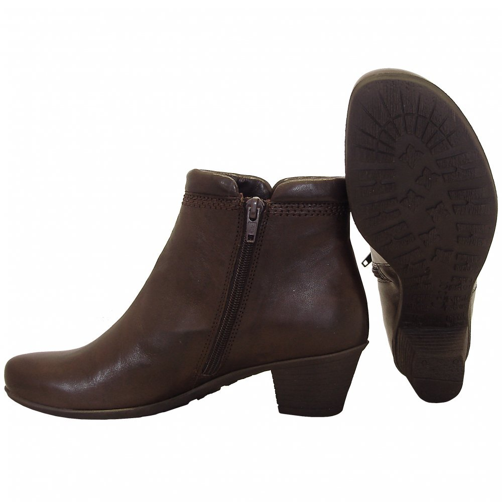 Gabor Boots | Sound Ladies Low Heel Ankle Boot in Brown | Mozimo